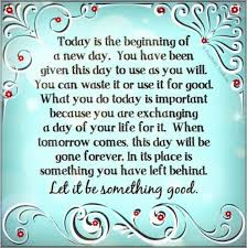 Image result for it's a good day to begin again