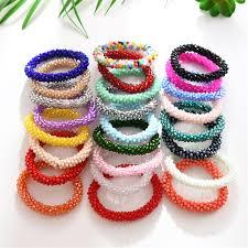 Crystal Beads <b>High Elastic Hair Bands</b> Glitter Women Hair ...