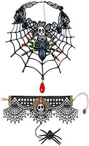 Polly Online <b>Halloween Lace Choker</b> Set <b>Halloween</b> Party Black ...