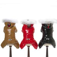 <b>Winter Pet Dog</b> Clothes <b>Warm Pet Plush</b> Coat Jacket four leg ...