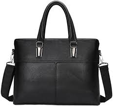 Men 's <b>Leather</b> Business Pack <b>Briefcase Handbag Shoulder</b> ...