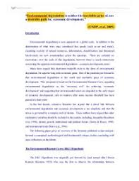 environmental degradation essay  www gxart orgenvironmental degradation is neither the inevitable price of nor page