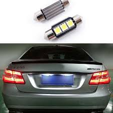 <b>2pcs</b> Canbus <b>6000K</b> LED License Number Plate Light Bulbs 36MM ...
