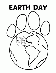 Small Picture Paw Earth Earth Day coloring page for kids coloring pages
