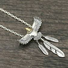 Eagle Feather Pendant <b>100</b>% <b>Pure 925 sterling</b> silver Fit with ...