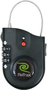 ReTrak Retractable Cable Lock with Alarm ... - Amazon.com