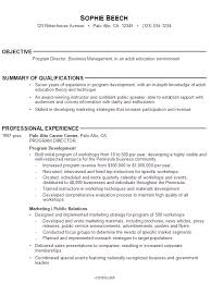 Resume Template. List of Objectives for Resume: teacher-resume ... ... Resume Template, List Of Resume Objective For Program Director With Summary Of Qualifications And Professional ...