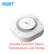 <b>PGST 433MHz Wireless</b> Independent Alarm <b>Smoke Fire</b> Sensitive ...