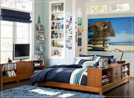 gorgeous teenage bedroom furniture ideas design with brown finish varnished wooden bed along dark blue bed bedroom furniture teens