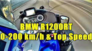 BMW R1200RT 0-200 Km/h acceleration and Top Speed - YouTube