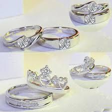 [Bayar Di Tempat]<b>2Pcs</b> Diamond Pasangan Cincin <b>Korea Simple</b> ...