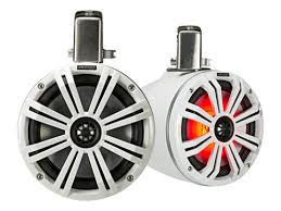 KICKER <b>8</b>″ (<b>200MM</b>)TOWER SPEAKERS WHITE <b>LED</b> - Midlands ...