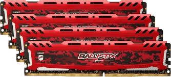 <b>Модуль</b> оперативной <b>памяти Crucial Ballistix</b> Sport LT <b>Red</b> 64GB ...