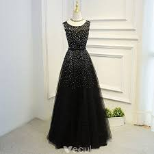 Amazing / Unique <b>Black Formal</b> Dresses 2017 <b>A-Line</b> / <b>Princess</b> ...