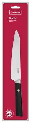 Купить Rondell <b>Нож сантоку</b> Spata <b>17.8</b> см черный по низкой ...
