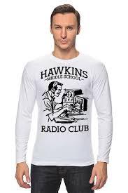 <b>Лонгслив</b> Очень странные дела. Радиоклуб Хоукинса #2312812 ...