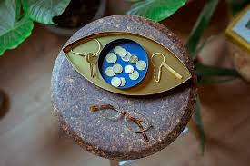<b>Органайзер для мелочей</b> The Eye золотой-синий от <b>Doiy</b> (арт ...