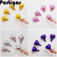 <b>50pcs</b>/<b>lot 5 Inch</b> Star Heart Shape Aluminum Foil Balloons Inflatable ...