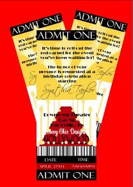 hollywood ticket style birthday invitation diy printable by simply hollywood ticket style birthday invitation diy printable by simply sprinkled 13 00 via