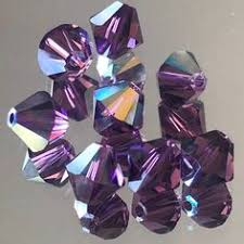 <b>Swarovski Crystals</b> - <b>4</b>-<b>6</b>-<b>8mm</b> Bicone <b>Crystal</b> Beads - Fern Green ...