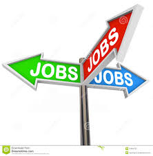 jobs street signs pointing way to new job career stock photography jobs street signs pointing way to new job career