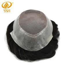 <b>SSH Fine Mono Men's</b> Toupee Poly Remy Human Hair Wigs ...