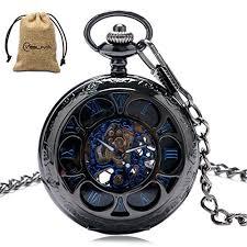 Luxury Men Pocket Watch with Chain Roman ... - Amazon.com