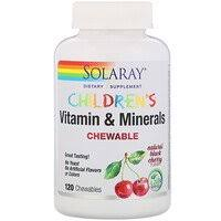 Solaray, <b>High Potency B-Complex Chewable</b>, Natural Strawberry ...