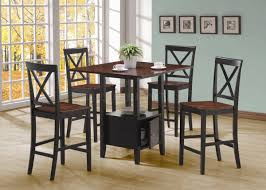Two Toned Dining Room Sets Black Cherry Two Tone Modern Pc Counter Height Dining Set Reiss
