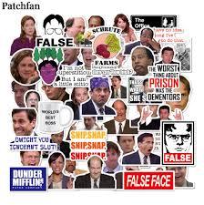 Patchfan 50 шт. офис, ТВ шоу, <b>детские наклейки</b> для ...