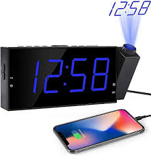 <b>Multifunctional Alarm Clock</b> LED <b>Digital</b> Electronic Projection Clock ...