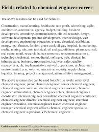 16 fields related to chemical engineer career the above resumes resume format for chemical engineer