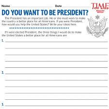 election printables time for kids do you want to be president