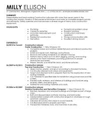 skills and abilities for general labor resume equations solver general labor resume skills layout objective