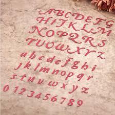 <b>Arabic Numerals</b> Numbers Alphabet Letters <b>Cutting</b> Dies Stencils for ...