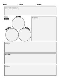 language logos and student on pinterest ap language rhetorical analysis planning worksheet