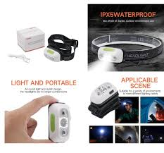 Outdoor Camping and <b>USB Rechargeable mini LED</b> Headlight ...