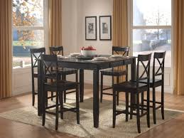 Dining Room Furniture Vancouver 5447 36 5pc Burnished Oak Wood Counter Height Dining Set Swivel