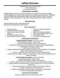 this following resume sample provides generic template of a resume for medical assistant positions and similar job titles as follows entry level medical medical assistant resume samples