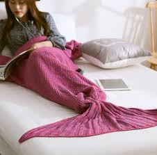 textiles blanket e knitted home mandala purple mermaid tail blanket handmade crochet merm