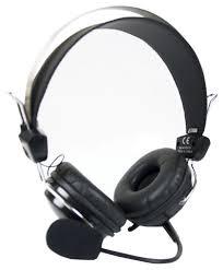 <b>Наушники</b>+микрофон <b>A4 Tech HS</b>-<b>7P</b> черный 2.5м накладные ...