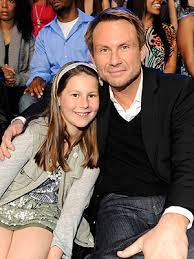 Photo of Christian Slater  & his  Daughter  Eliana Sophia Haddon-Slater