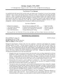 tax director sample resume professional resume writing services tax director sample resume 1 page 1