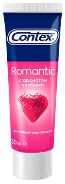 <b>Гель</b>-<b>смазка Contex Romantic</b> с ароматом клубники — купить по ...