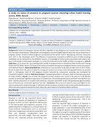 (PDF) A study on status of anaemia in <b>pregnant women</b> attending ...