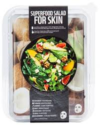 <b>superfood salad for skin</b> facial sheet mask coconut package