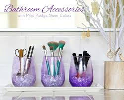 colourful bathroom accessories