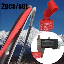 <b>2Pcs Durable</b> Red New Top <b>Bicycle Tire</b> Liner Pad Anti Puncture ...