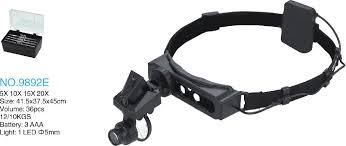 MG9892E <b>Лупа налобная</b> 28.0x с подсветкой (1 LED) купить со ...