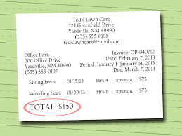 written invoice services rendered sample written invoice 0759